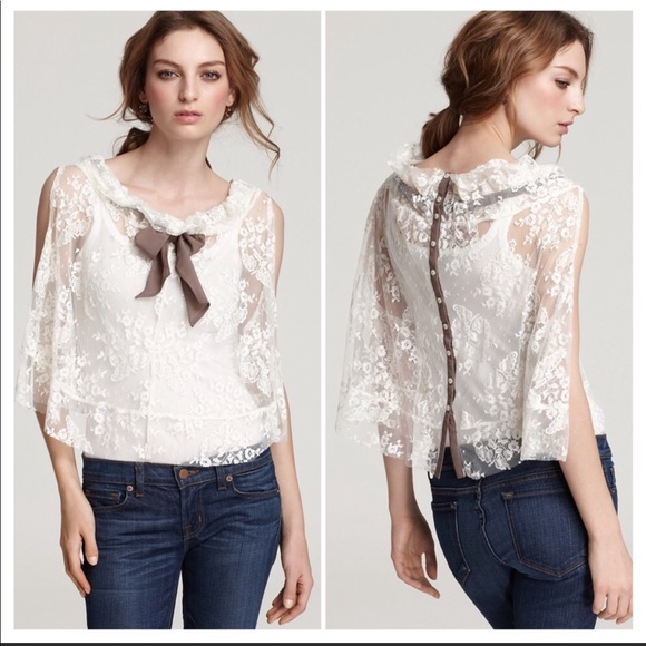Free People Tops - Free People Fly Away Lace Bow Top